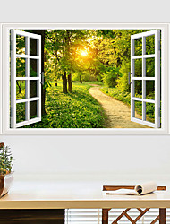 cheap -Forest Sunshine Wall Stickers Bedroom Living Room Removable Pre-pasted PVC Home Decoration Wall Decal 1pc
