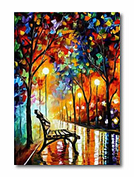 cheap -Oil Painting Handmade Hand Painted Wall Art Abstract Back to School Rain 3D Palette Knife Home Decoration Decor Stretched Frame Ready to Hang