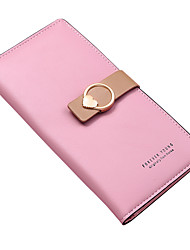 cheap -Women's Bags PU Leather Polyester Wallet Zipper Quotes & Sayings Daily Outdoor 2021 Purple Blushing Pink Dark Red Khaki
