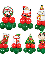 cheap -Christmas Balloons Christmas Tree Boy Gifts Christmas Party Decoration Aluminum Film Balloon Package