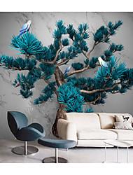 cheap -Mural Wallpaper Wall Sticker Covering Print Peel and Stick Self Adhesive White Marble Artistic Pine Tree Art Decor PVC / Vinyl Home Decor
