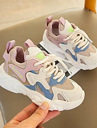cheap -Girls' Trainers Athletic Shoes Sports & Outdoors Comfort Princess Shoes Rubber PU Sporty Look Little Kids(4-7ys) Big Kids(7years +) Daily Walking Shoes Blue Pink Fall Winter