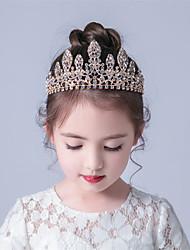 cheap -Simple Children's Headwear Crown Headband Alloy Diamond Wedding Dress Accessories Birthday Princess Crown