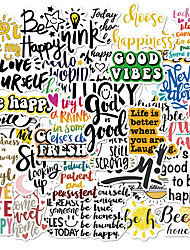 cheap -inspirational quotes wall decals wall décor stickers include crazy fonts, colorful letters and inspiring messages - removeable wall decor for bedroom, living room, study, office