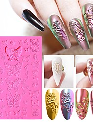 cheap -1pcs Silicone Nail Plate for Stamping Fashion Flower Nails Art Stamp Templates Tools Accessories for DIY Manicure