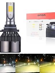 cheap -2PCS 3color Flash H4 LED H7 H1 H11 9005 9012 Tricolor Auto LED Fog Lamp Car Headlight Lamp Bulb 3000k 4300k 6000k All-in-One Headlights