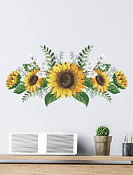 cheap -Sunflowers Plants Wall Stickers Bedroom Living Room Removable Pre-pasted PVC Home Decoration Wall Decal 1pc
