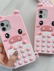 cheap -Phone Case For Apple Back Cover iPhone 12 Pro Max 11 SE 2020 X XR XS Max 8 7 Shockproof Dustproof Cartoon Animal Silicone