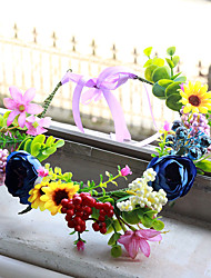 cheap -Garland Headdress Beautiful Color Hair Accessories Simulation Blueberry Fruit Flower Fairy Vacation Wedding Dress Pregnant Photos Wearing