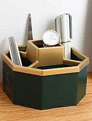 cheap -Back to school gift Multi-layer Large Capacity Desk Organizer Multi-colored Desktop Storage Box Pen Pencil Holder Green