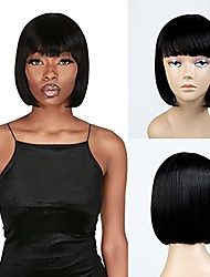 cheap -short bob hair wig 11 inch straight bob with china bangs short wig for black women heat resistant synthetic wigs – sexy04 (11 inch, 1)