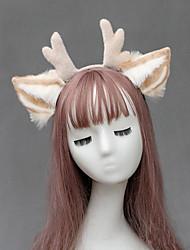 cheap -Kids Baby Girls' One Generation Japanese Cute Plush Deer Ears Antler Headdress  Accessories Hand-Made Simulation Animal Ears Headband