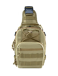 cheap -Unisex Bags Oxford Cloth Sling Shoulder Bag Zipper Daily Outdoor Backpack Army Green Khaki Black