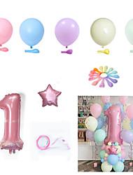 cheap -Macaron Latex Balloon Birthday Full Moon Package Combination Party Scene Layout Decoration