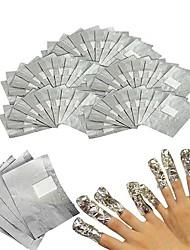 cheap -100Pcs/Lot Aluminium Foil Nail Art Soak Off Acrylic Gel Polish Nail Removal Wraps Remover Makeup Tool