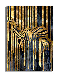 cheap -Wall Art Canvas Prints Painting Artwork Picture Abstract Animal Zebra Home Decoration Decor Rolled Canvas No Frame Unframed Unstretched