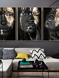 cheap -Wall Art Canvas Prints Painting Artwork Picture Gold People Women Home Decoration Decor Rolled Canvas No Frame Unframed Unstretched
