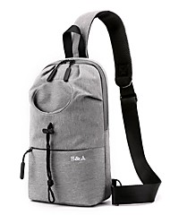 cheap -Men's Bags Oxford Cloth Nylon Sling Shoulder Bag Zipper Daily Outdoor 2021 Tote Baguette Bag Gray Black