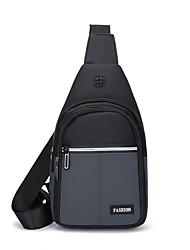 cheap -Men's Bags Oxford Cloth Nylon Sling Shoulder Bag Zipper Daily Outdoor 2021 Tote Baguette Bag Blue Gray Green Black