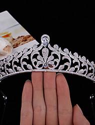 cheap -Baroque Hair Accessories Bride Wedding Zircon Crown Wedding Headdress Princess Wedding Dress Accessories