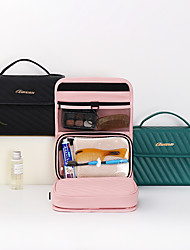 cheap -Storage Organization Cosmetic Makeup Organizer PU Leather Rectangle Shape Portable / Multilayer 23*22*10CM