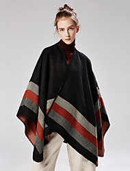 cheap -European and the United States ladies four bars big border open fork imitation cashmere pull hair jacquard shawl Amazon hot show cape 130x150CM
