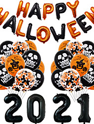 cheap -2021 Halloween Decoration Set Balloons Party Balloons Special Aluminum Film Latex Combination Halloween Decoration Balloons