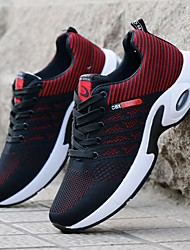cheap -Men's Trainers Athletic Shoes Vintage British Athletic Outdoor Running Shoes Walking Shoes Mesh Breathable Shock Absorbing Wear Proof Dark Red Blue Black Fall Spring