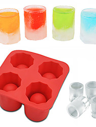 cheap -Ice Cube Tray Mold Makes Shot Glasses Ice Mould DIY Cooling Tool Ice Tray Summer Drinking Tool Ice Shot Glass Whiskey Cocktail Cold