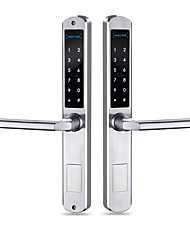 cheap -Aluminium alloy Intelligent Lock Smart Home Security System Fingerprint unlocking / Password unlocking / Anti peeping password Home / Office Security Door (Unlocking Mode
