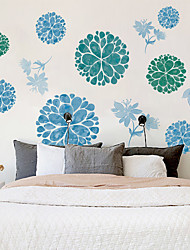 cheap -New Wall Stickers Manufacturers Wholesale Bedroom Living Room Can Remove Simple And Elegant Flower Ball Combination Self-Adhesive Wall Stickers Xh9286 60*90cm
