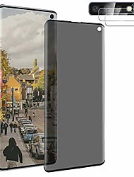 """cheap -[1+2] tempered glass for samsung galaxy s10 privacy screen protector + camera lens protector [privacy protection] [touch sensitive] [3d edge coverage] [9h hardness] [no bubble] 6.1"""""""
