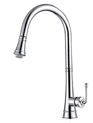cheap -Kitchen Faucet Kitchen Sink Faucet Sink Faucet Pull-Down Kitchen Faucets Bar Kitchen Faucet Chrome/Matte Black Stainless Steel