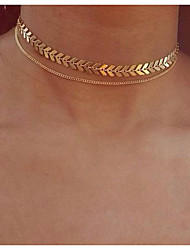 cheap -jewelry fishbone airplane chain clavicle chain short necklace female