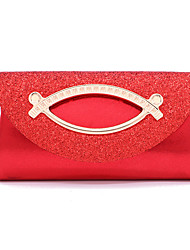 cheap -Women's Bags Polyester Evening Bag Sequin Chain Solid Colored Party Wedding Evening Bag Chain Bag Blushing Pink Fuchsia Silver Gold