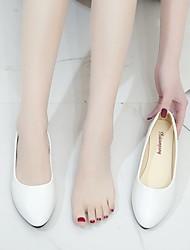cheap -Women's Flats Flat Heel Round Toe Rubber Pink White Black