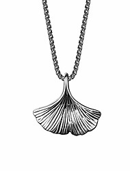 cheap -retro ginkgo leaf necklace for girls women 925 sterling silver fashion jewelry pendant birthday gifts for her luxury gift package