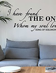 cheap -love inspirational quotes i have found the one whom my soul loves -song of solomon art words wall decal removable diy mural wall stickers for living room wedding couple marriage romantic decor
