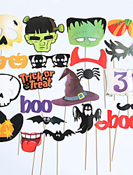 cheap -Halloween Photo Props Halloween Party Funny Decorations Pirate Paper Beard Eyeball Crow Ghost Hand Props
