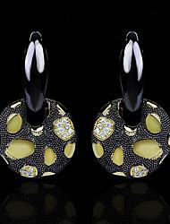 cheap -Women's AAA Cubic Zirconia Earrings Vintage Style Fashion Stylish Gothic Vintage Earrings Jewelry Black For Halloween Street Festival 1 Pair