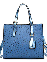 cheap -Women's Bags PU Leather Tote Crossbody Bag Top Handle Bag Tassel Zipper Solid Color Crocodile Vintage Daily Outdoor Retro Leather Bag Handbags Blue Green White Black