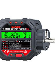 cheap -GVDA Socket Outlet Tester Voltage Detector Electric Circuit Breaker Finder Ground Zero Line Polarity Phase Check