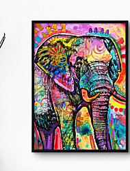 cheap -Wall Art Canvas Prints Painting Artwork Picture Animal Abstract Elephant Home Decoration Decor Rolled Canvas No Frame Unframed Unstretched