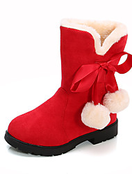 cheap -Girls' Boots Mid-Calf Boots Snow Boots Fluff Lining PU Snow Boots Big Kids(7years +) Little Kids(4-7ys) Toddler(2-4ys) Daily Walking Shoes Red Pink Black Winter