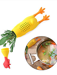 cheap -Silicone Chicken Herb Infuser Spice Tool Stew Soup Seasoning Jars Pot Condiment Container Spices Box Reusable Cute Creative Kitchen Gadget Durable