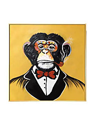 cheap -Oil Painting Handmade Hand Painted Wall Art Animal Chimpanzee Home Decoration Decor Rolled Canvas No Frame Unstretched
