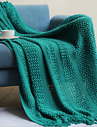 cheap -Cotton Throw Blanket All Season For Couch Chair Sofa Bed Picnic Knit Handmade Nordic Rustic Style Tassels/Fringes Solid Soft Fluffy Warm Cozy Plush Autumn Winter