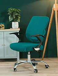cheap -Computer Office Chair Cover Stretch Rotating Gaming Seat Slipcover Elastic Jacquard Green Plain Solid Color Soft Durable Washable