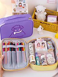 cheap -Storage Organization Cosmetic Makeup Organizer PVC Foam Board Rectangle Shape Portable 24x17x6cm