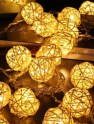 cheap -LED String Light Wedding Christmas Fairy String Light 3M 1.5M Sepak Takraw String Lights  Battery Operation Holiday Party Home Room Garden Decoration Lamp